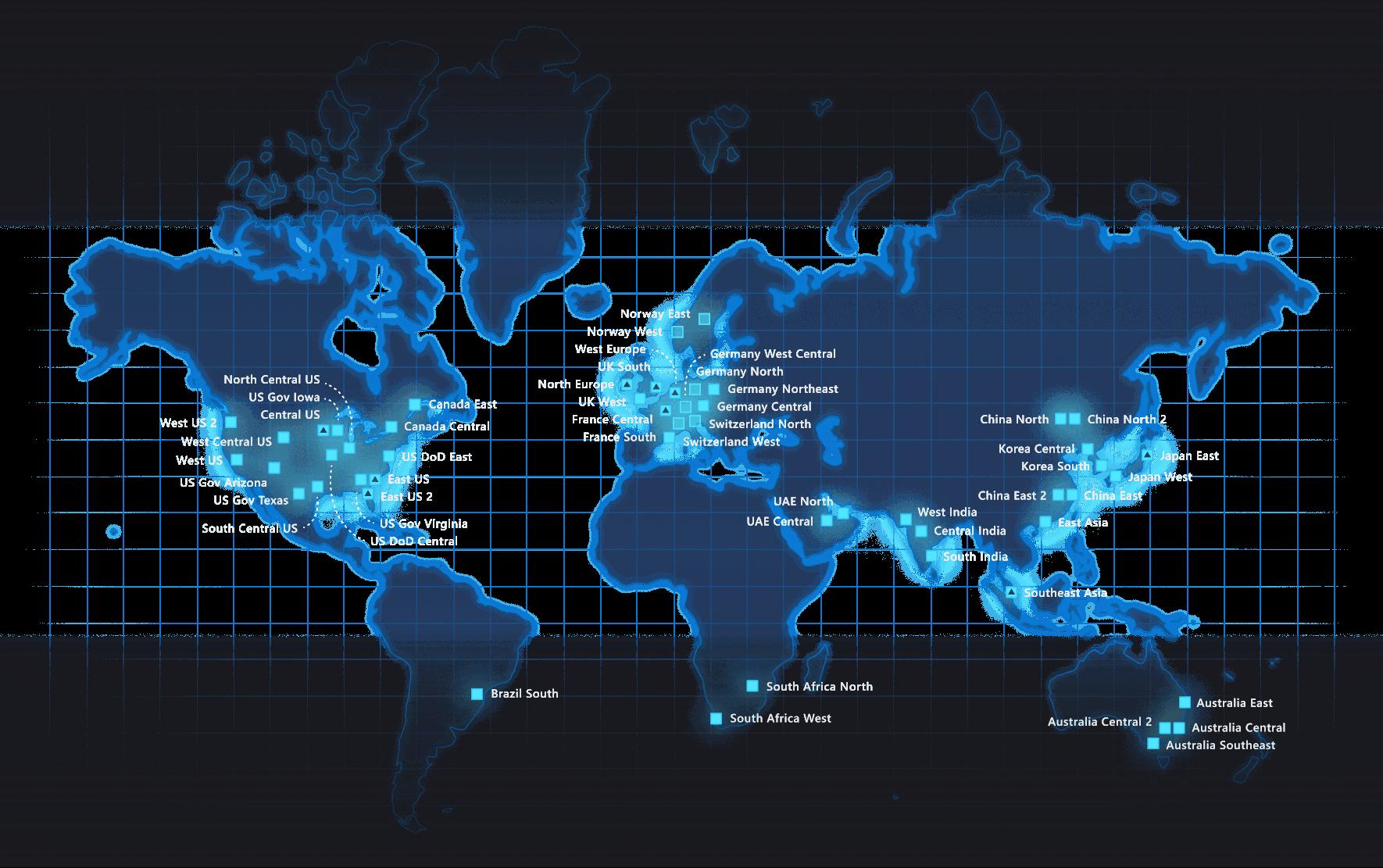 Mapa Azure